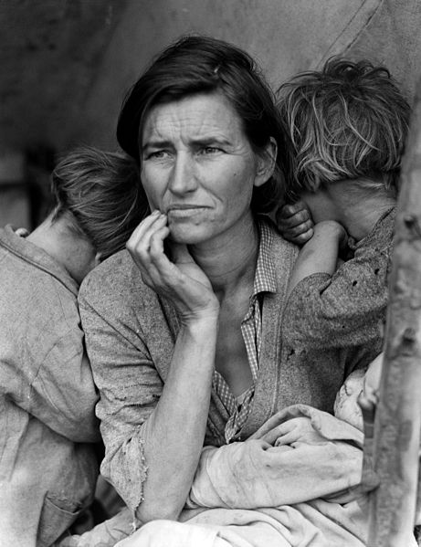 Migrant Mother, 1936, by Dorthea Lange